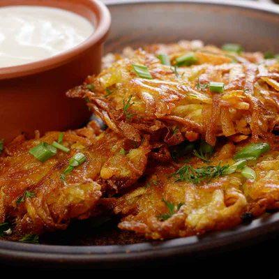 Kartupeļu pankūkas ar burkāniem