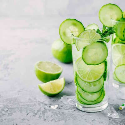 Gurķu un laima limonāde