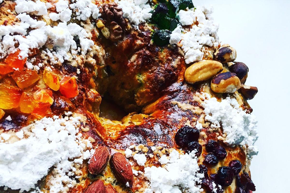 Portugāļu Ziemassvētku laika kūka Bolo Rei