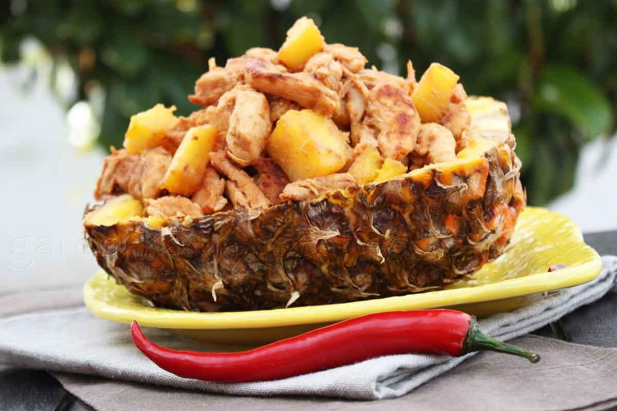 Vistas fileja ar ananasiem