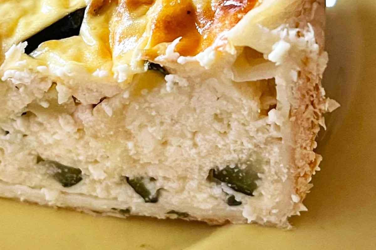 Biezpiena un siera kišs ar cukini un piparmētru